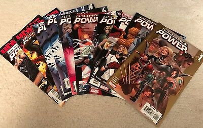 Marvel Comics - Ultimate Power 1-9 (2006) - VF+ - Fantastic Four, Avengers