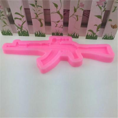 Gun Pistol Silicone Mold Chocolate Candy Ice Cube Cake Fondant Party Favors Q