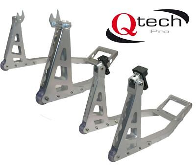 Motorcycle Front Rear ALUMINIUM Alloy PADDOCK Stand Set MOTORBIKE FORK Universal