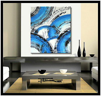 ABSTRACT PAINTING Modern Canvas WALL ART Large, Signed, Framed, USA ELOISExxx
