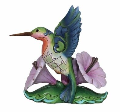 Jim Shore Heartwood Creek Miniature Hummingbird On A Flower Figurine 6000680