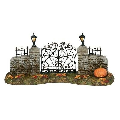 Department 56 Halloween Village Lighted Entrance Gate Figurine 6000665 New