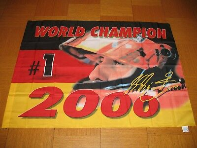 Fahne / Flagge   Michael Schumacher # 1   F1 World Champion    Ferrari    Neu