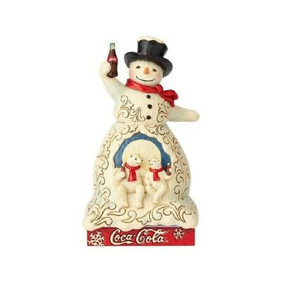 Jim Shore Coca Cola Polar Refreshment Snowman Christmas Figurine 6001000 New