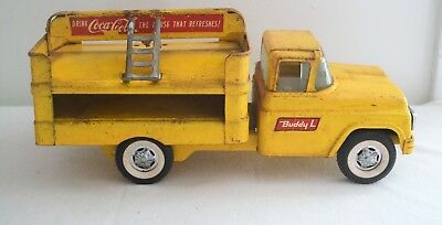 Vintage BUDDY L Yellow COCA COLA The Pause that Refreshes Delivery Hand Truck