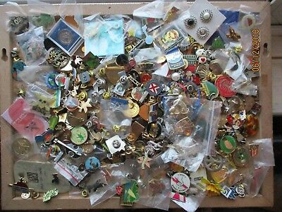 Job Lot Collection Brooch Pin Badges Vintage Club Charity Mixed Massive 1.8 Kg