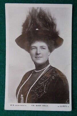 Antique Royal Postcard Queen Amelie of Portugal