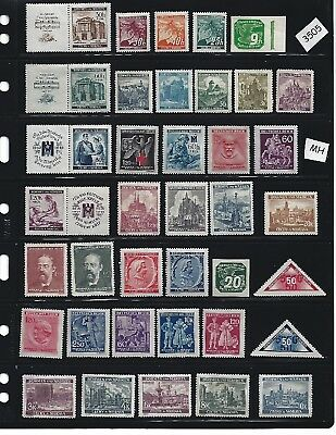 #3505      MH stamp collection /  German Occupation / Third Reich / Nazi Germany