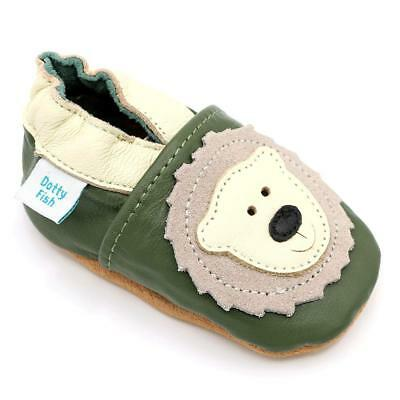 Dotty Fish Soft Leather Baby Shoes. 0-6 Months to 4-5 Years. Toddler Boys...