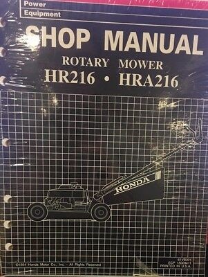honda hr 216 mower repair manual