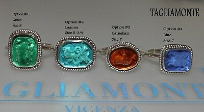 TAGLIAMONTE(834/835/838)Stackable Ring*SS/925*Venetian Intaglio*Choice of 1*