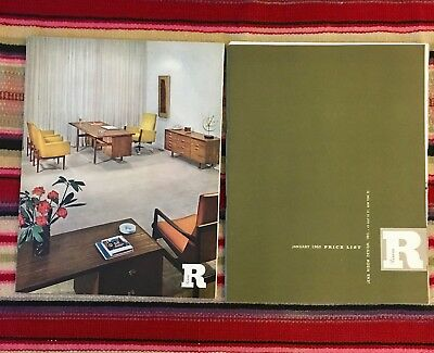 VTG Original Jens Risom 1960 Price List Illustrated Catalog MCM Furniture 60's