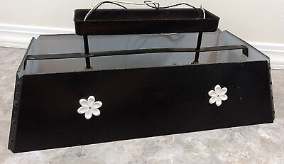 Thomas Light Fixture Lamp Kitchen Bar Pool Table Hippie Retro Flower Daisy VTG