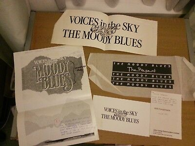 The Moody Blues - ORIG ARTWORK FOR VARIOUS LOGOS AND COMPLIMENT SLIP