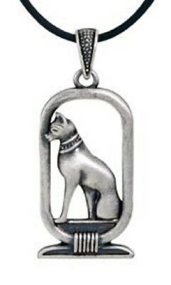 Ancient Egyptian Bastet Cat Pewter Pendant Necklace Egypt Jewelry Fashion New
