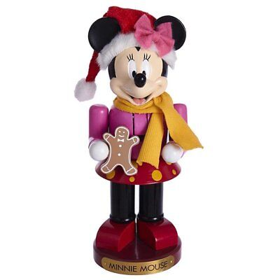 Disney Minnie Mouse with Gingerbread Cookie Wooden Christmas Nutcracker 10 Inch