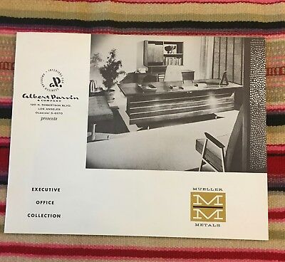 VTG 1960s Mueller Metals Albert Parvin Executive Office Furniture Catalog 50's