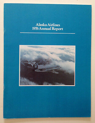 Alaska Airlines Annual Report  1976    +++++ Fly With A Happy Face +++++