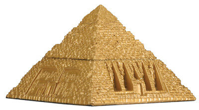 Ancient Egyptian Pyramid Gold Jewelry Trinket Box