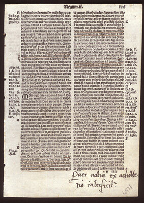 1519 Bible Leaf 2nd Book of Kings Chapters 12-13 Contemporary Annotations