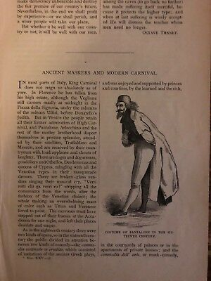 1880 Actors Ancient Maskers and Modern Carnival illustrated