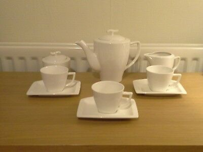 WHITE 'HOTEL' TEA / COFFEE SET By Hotel Collection - IDEAL SET