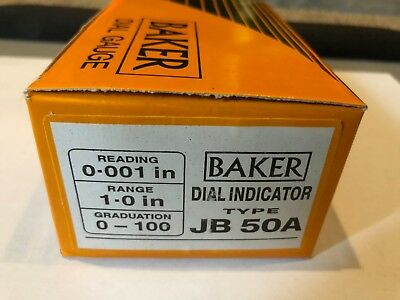 Baker Model JB 50A Dial Indicator, New In Box