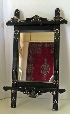 Antique Mildly Distress Criss Cross Frame With Mirror