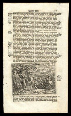 The History of The German People Woodcut of The Battle of Antioch  in 613 CE