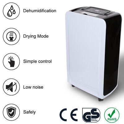 12L Dehumidifier Dehumidification Use in Rooms Up to 135 m³ Clothes Drying Timer
