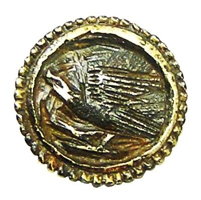 Nice Excavated 14th - 15th century AD Medieval Silver-gilt Falconry Button RARE