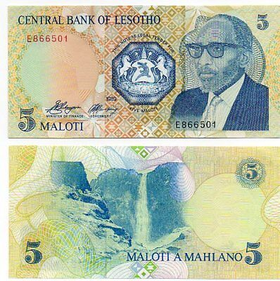 LESOTHO    -   great  note  UNC    5  maloti    #10   -    LAST ONE !!!