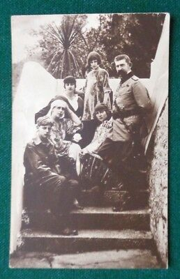 Antique Royal Postcard King Ferdinand I&  Queen Marie & Children of Romania