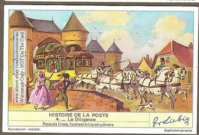 Postal Mail Delivery By Horse Coach 75+ Y/O Trade Card