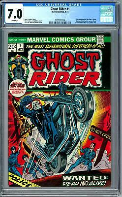 Ghost Rider #1 CGC 7.0 (W) 1st Issue 1st Son of Satan