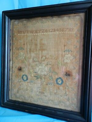 Early 19Th Century Sampler By Mary Anne Garnette 1801
