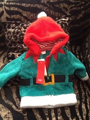 New Baby Boys Christmas Elf Hoodie / Jacket   ♡ ♡  ♡ 3-6 Months