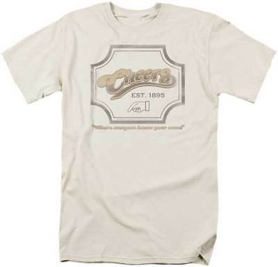 Cheers TV Show Where Everybody Knows Your Name Enter Hand Sign Adult T Shirt