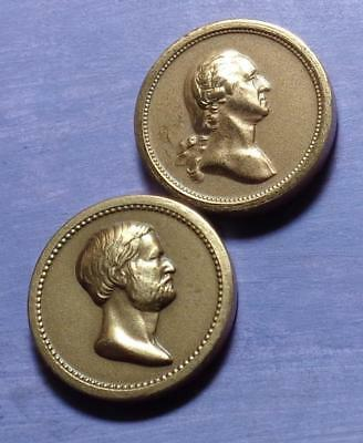 WASHINGTON LINCOLN AND GRANT -- OFFICIAL U. S. MINT Medalets