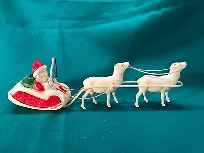 Antique Christmas Decoration Santa and Sleigh