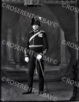 1931 the Royal Artillery - Major J S Barton . M.C. #1  glass negative 22 by 16cm