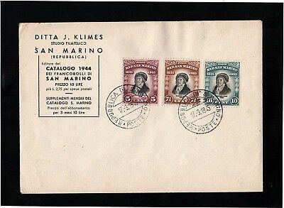 San Marino - 1945 - Stamps Of 1935 On Cover - With Cds Postmarks