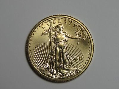2011 $10 American Gold Eagle - 1/4 oz AGE - Quarter Ounce