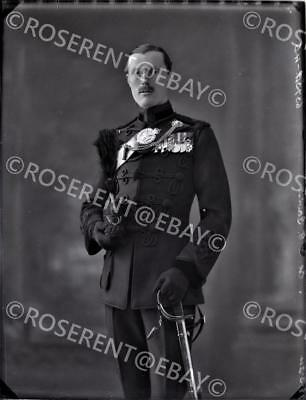 1924 the Rifle Brigade - Col M G Gavin  D.S.O. M.C. #2 glass negative 22 by 16cm