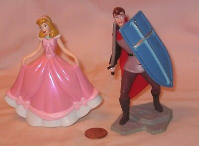 "Disney Sleeping Beauty 4"" Princess Aurora, Prince Phillip W/Sword & Shield"