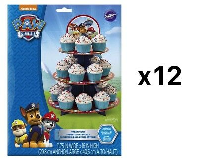 Wilton Paw Patrol Cardboard 3-Tier 24-Cupcake Treat Stand With Topper (12-Pack)
