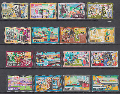 Malta - 1981 Views complete set Sc# 592/607 - MNH (7069)