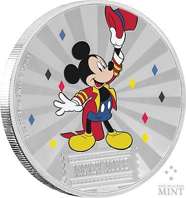 2019 Mickey Mouse & Friends Carnival - Mickey Mouse 1oz Silver Coin - 1st coin