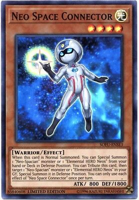 YuGiOh Soul Fusion Super Rare Neo Space Connector SOFU-ENSE3