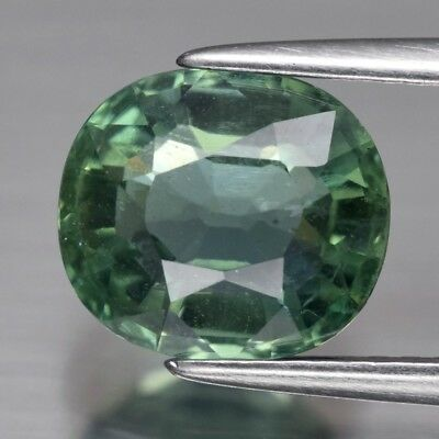 2.33ct 8.5x7.7mm Oval Natural Unheated Green Apatite, Brazil